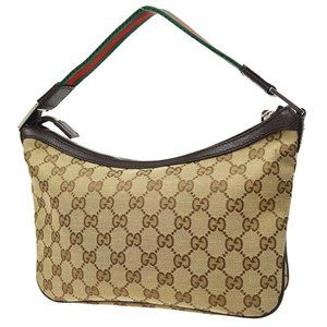 Authentic GUCCI GG Sherry Line Hand Bag 1458123444